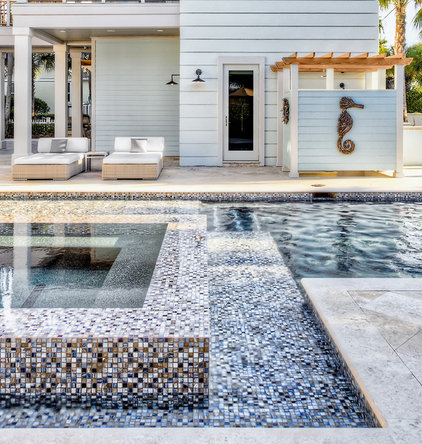 contemporary pool by Beach Chic Design