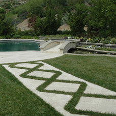 Traditional Pool by James Dean Design