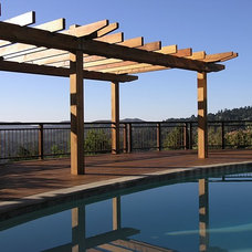 Traditional Pool by Derviss Design