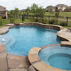 Traditional Pool by Canyon Tile & Stone