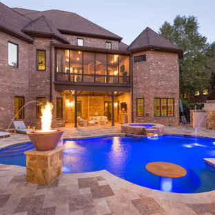 This is an example of a traditional pool in Charlotte.