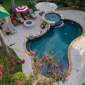 Pool & Spa Combo with Fire Pit
