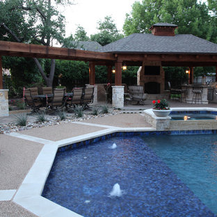Pool & Spa Remodel with Addition of Pavlion and Arbor in Tulsa
