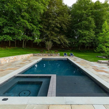 Pool and Spa with Paver Stone Patio
