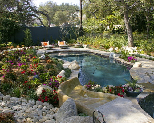 Pool landscaping houzz for Pool design landscaping ideas