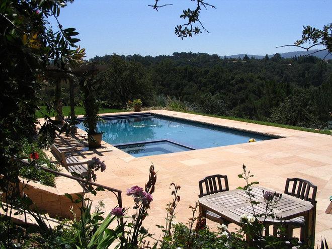 Mediterranean Pool by Arterra LLP Landscape Architects