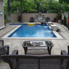 modern pool by Baudin's Masonry