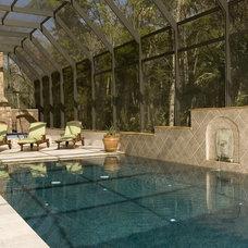 Mediterranean Pool by BeeTree Homes