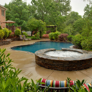 Inspiration for a farmhouse pool remodel in Charlotte