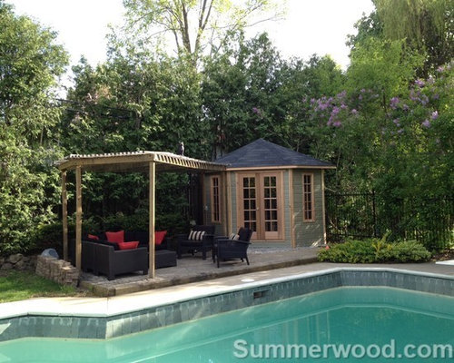 Prefab pool houses design ideas remodel pictures houzz for Modular pool house