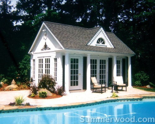 Prefab pool houses houzz for Modular pool house