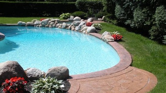 Pool Coping and Stamped Patio