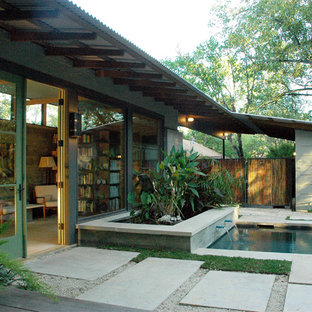 Inspiration for a modern pool remodel in Austin