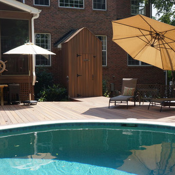 Pool Deck & Outhouse