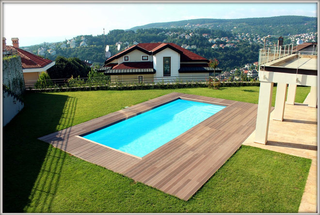Modern Pool by Pensa Composite Deck Systems