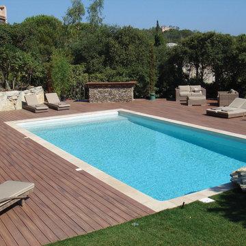 Pool Deck with Fiberon Composite Decking