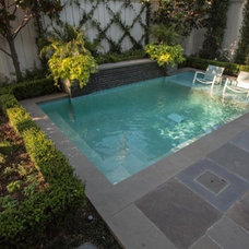 Traditional Pool by Brumley Gardens