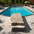 Natural Stone Pool Deck Amp Jumping Rock Contemporary