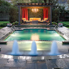 Contemporary Pool by Exterior Worlds Landscaping & Design
