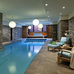 contemporary pool by Douglas Design Studio