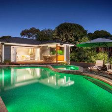 Beach Style Pool by Acorn Garden Houses