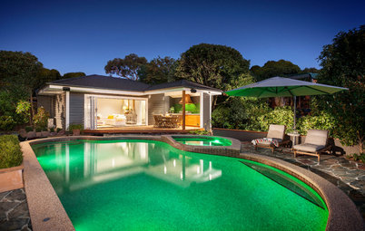 Room of the Day: Pool House Welcomes Guests in Style