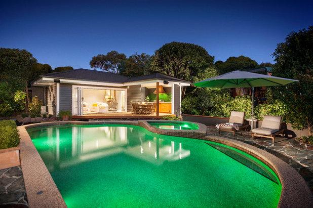 Coastal Swimming Pool & Hot Tub by Acorn Garden Houses