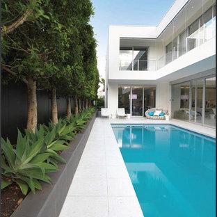 Large Minimalist Rectangular Pool Photo In Melbourne