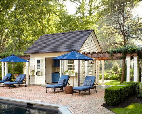 Backyard Pool House Designs stone and timber pool house Saveemail