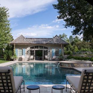 Ispirazione per una piscina shabby-chic style