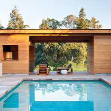 Contemporary Pool by Klopf Architecture
