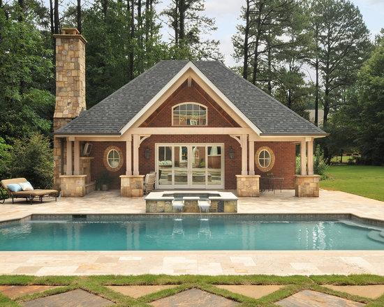 brick pavers around pool   houzz