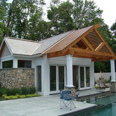 Traditional Pool by Keedle & Lee Architects LLC