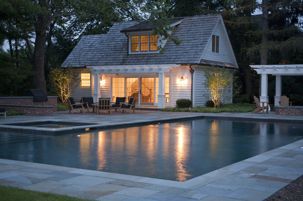 Traditional Pool by Lellbach Builders
