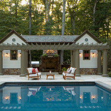 Traditional Pool by Rill Architects
