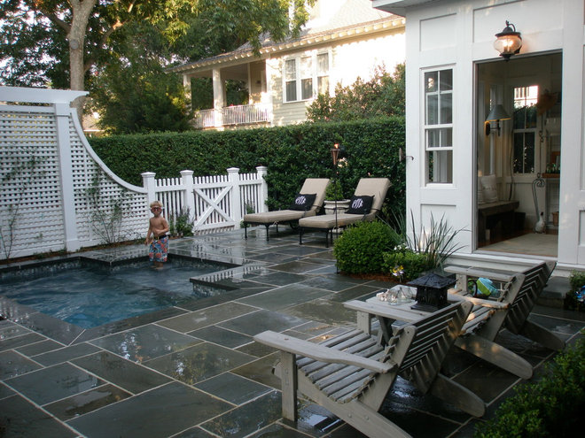 Traditional Pool by Kirk Wood Homes