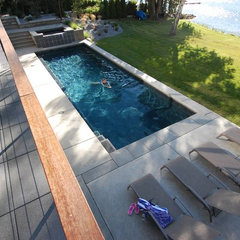 contemporary pool by McClellan Architects