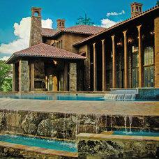 Mediterranean Pool by Norris Architecture