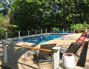 Pool on Shaded Slope