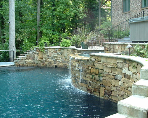 Pool on steep slope for Pool design on a slope