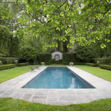 Pool Patio & Formal English Gardens