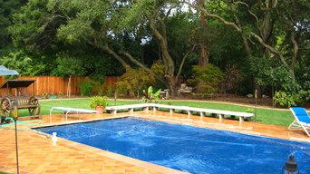 Pool patio & yard, north facing