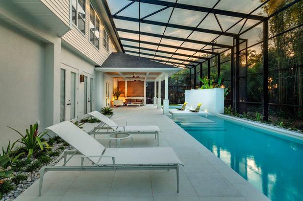 Contemporain Piscine by DWY Landscape Architects