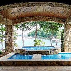 Mediterranean Pool by Tom Stevenson Building Co