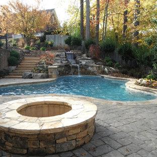 Example of a classic pool design in Atlanta