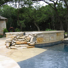 Eclectic Pool by Paradise Pools and Spas