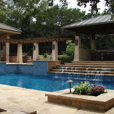 Traditional Pool by Paradise Pools and Spas