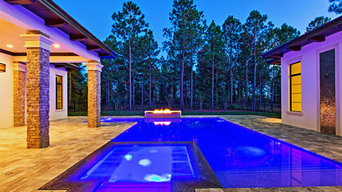 Pool projects with lighting