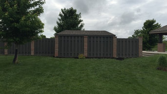 Pool pump house and fence