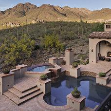 Traditional Pool by R.J. Gurley Custom Homes